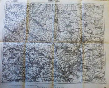 Podwoloczyska Volocisk Ternopil Ukraine map Karta Landkarte 1915