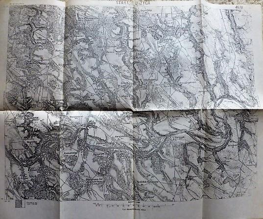 Stara Uszyca Ushytsya Kormen Hmelnickij Ukraine Karta map Landkarte