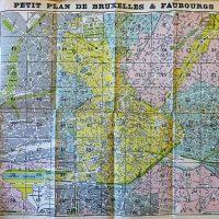 Plan de Bruxelles et ses Faubourgs, Petit Plan De Bruxelles & Faubourgs map Landkarte