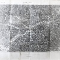 Leoben und Bruck a.d. Mur Austria Landkarte map 1914