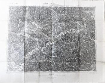Leoben und Bruck a.d. Mur Austria Landkarte  1914