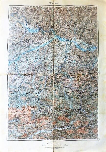 Linz 32° 48° Umgebung Österreich Austria Landkarte