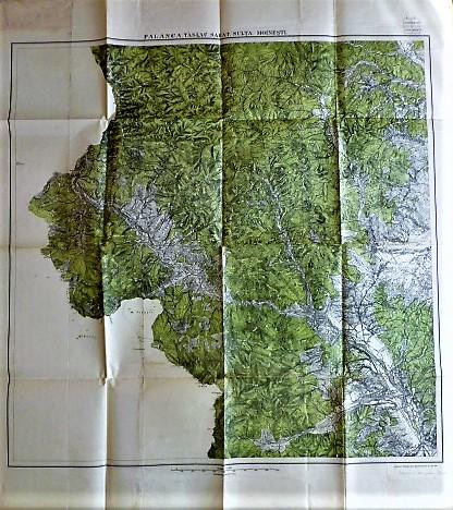 Palanka, Táslau Sarat, Sulta, Moinesti Darmanesci Romania  Landkarte map 1917