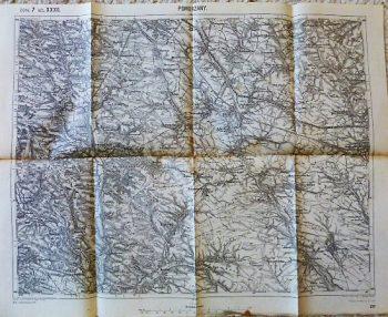 Pomorzany Zborow Lemberg Ukraine map Landkarte