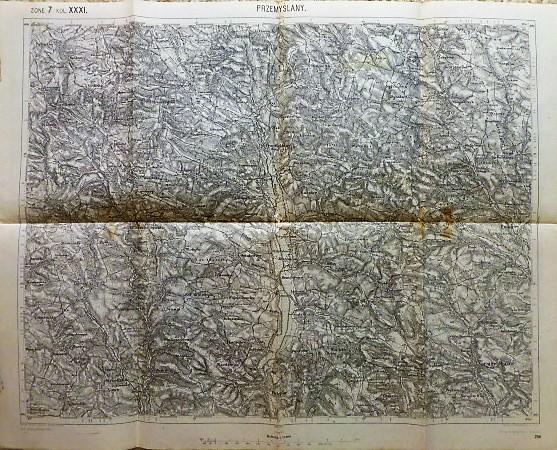 Przemyslany Lemberg Ukraine Landkarte map 1914