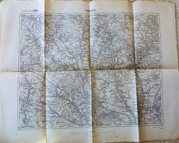 Tarnopol Zbaraz Ukraine military map Karte 1914