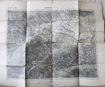 Turdossin an der Árva Slovakia map Landkarte 1891