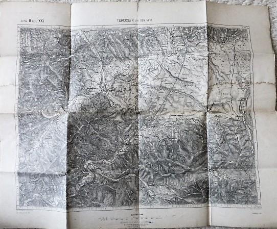 Turdossin an der Árva Tvrdošín Namesto Slovakia map Landkarte 1891