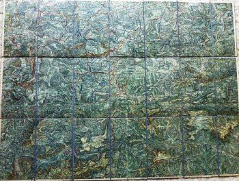 Umgebungskarte von Mariazell Österreich 1910-1930