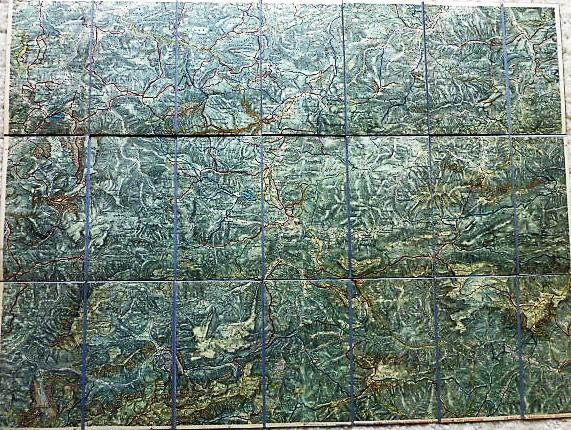 Umgebungskarte von Mariazell 1910-1930