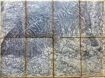 Agram Zagreb Umgebung Landkarte map 1882
