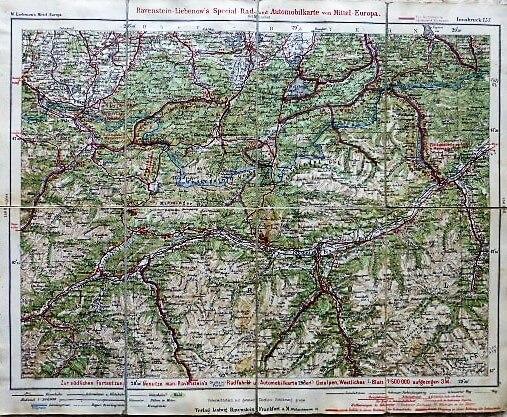 Rad- Automobilkarte Deutschland Innsbruck ungebung