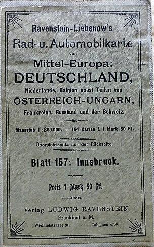 Rad- Automobilkarte Österreich Innsbruck ungebung