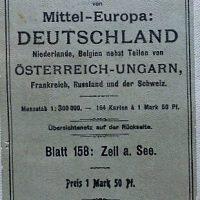 Rad-u. Automobilkarte Zell am See Ungebung 1920