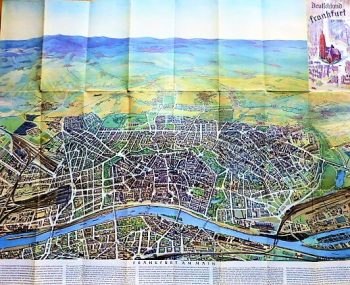 Deutschland Frankfurt am Main Panoramenkarte 1936
