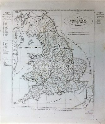 England Landkarte old german map