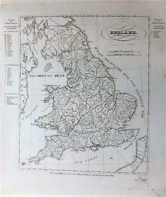 England Landkarte old german map