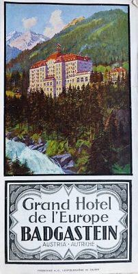 Grand Hotel Badgastein Österreich Panoramenkarte