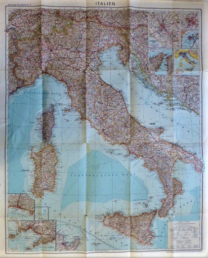 Italien Flemmings Generalkarte Nr 18 Italy map