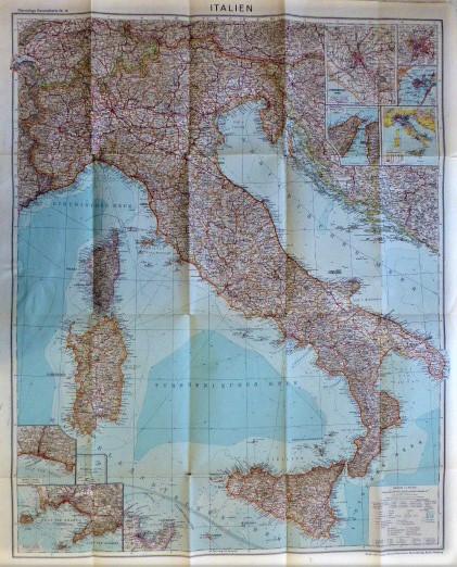 Italien Flemmings Generalkarte Nr 18 Italy map