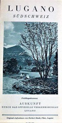 Lugano Umgebung Südscheiz Panoramekarte Prospekt