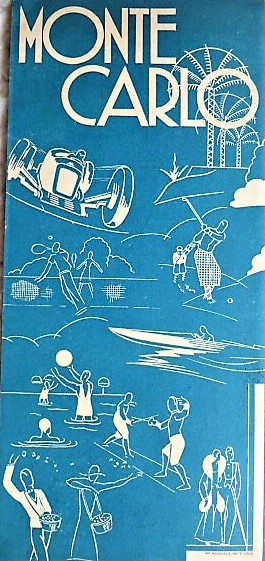 Monte Carlo Travel Brochure cca 1930