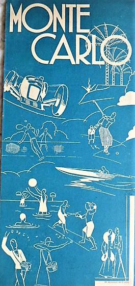 Monte Carlo Travel Brochure cca 1930