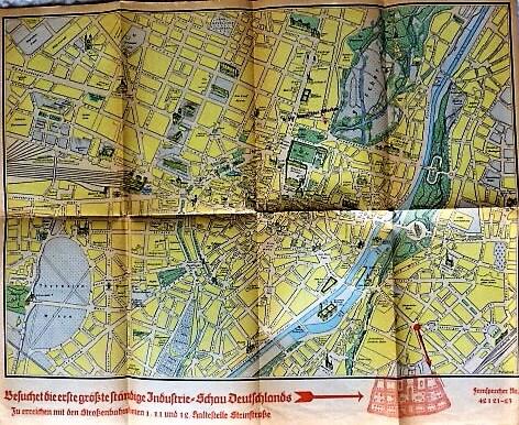 Stadtplan von München Deutscher Industrie Verband