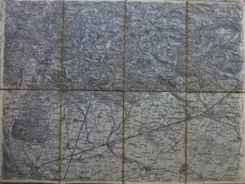 Unter Ganserndorf Österreich Landkarte 1885