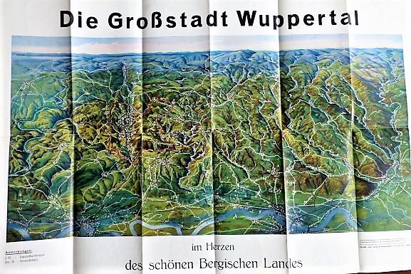 Wuppertal im Bergischen Land Panoramekarte