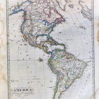 America Landkarte 1867 old german map