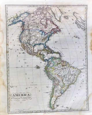 America Landkarte 1867 old german map