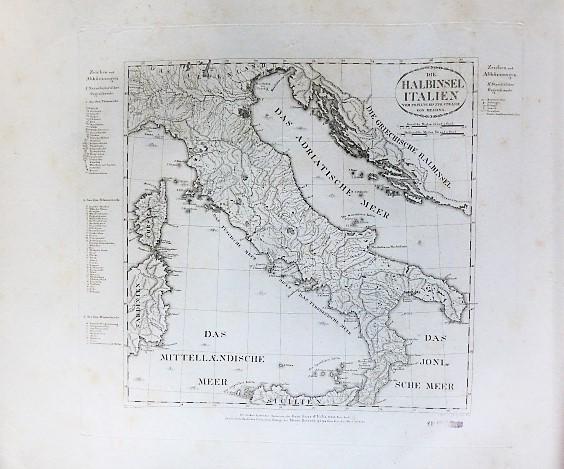 Die Halbinsel Italien Landkarte Italy map