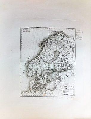 Halbinseln am Nord und Baltischen Meere Landkarte