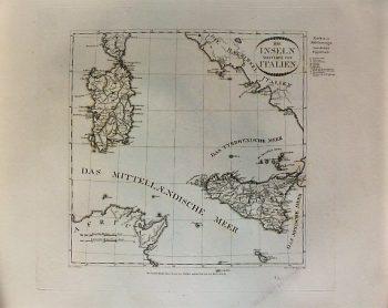 Die Inseln Westlich Von Italien Landkarte