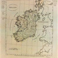 Ireland old map Irland Landkarte gez. v. Schlieben
