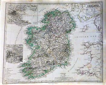 Ireland old german map 1866