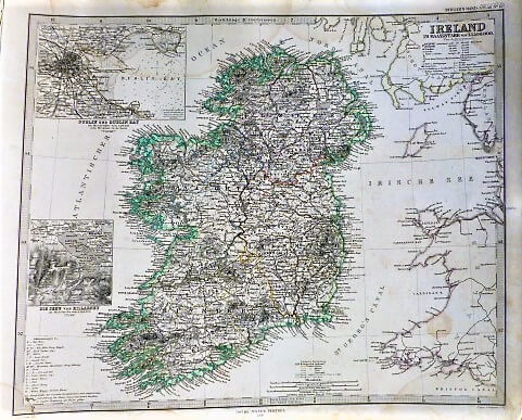 Ireland old german map 1866