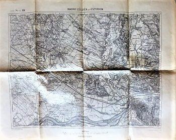 Magyarszölgyén und Esztergom Landkarte 1914