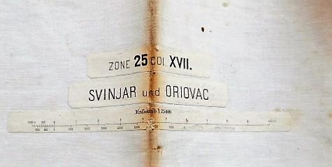 Svinjar und Oriovac Croatien Landkarte Croatia map