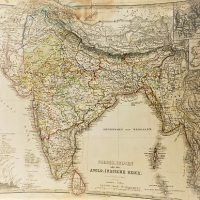 Vorder.Indien Landkarte 1866 India map
