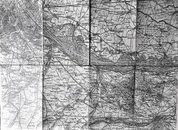 Wien Umgebung Landkarte old map 1880