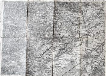 Wiener Neustadt Ungebung Landkarte 1876