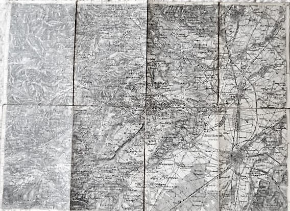 Wiener Neustadt Ungebung Landkarte 1876 Zone 14