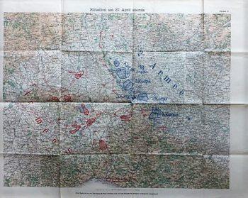 Solferino Pavia Kriegskarte 1859 April 27