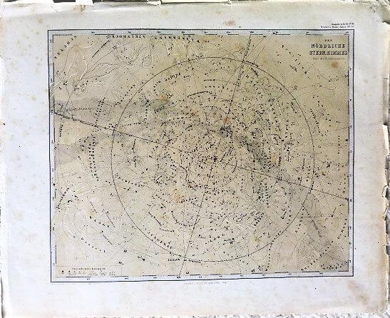 Der Nördliche Stern. Himmel 1866