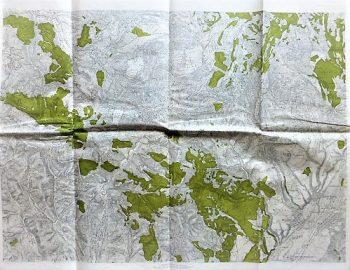 Gledinu Seutu Romania Landkarte 1910-20 map