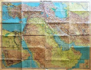 The Middle East map 1963
