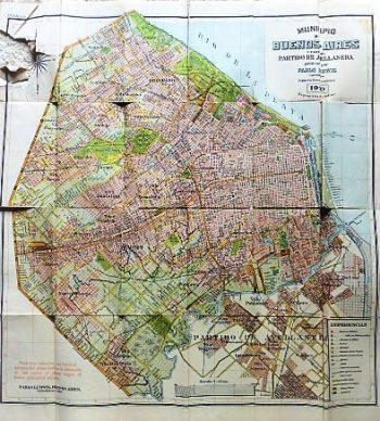 Municipio de Buenos-Aires old map 1920