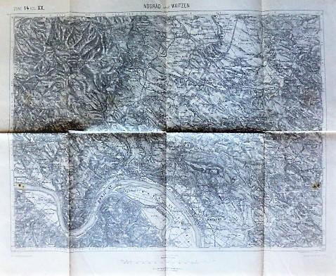 Nógrád und Waitzen Vác Ungarn Kriegskarte 1912
